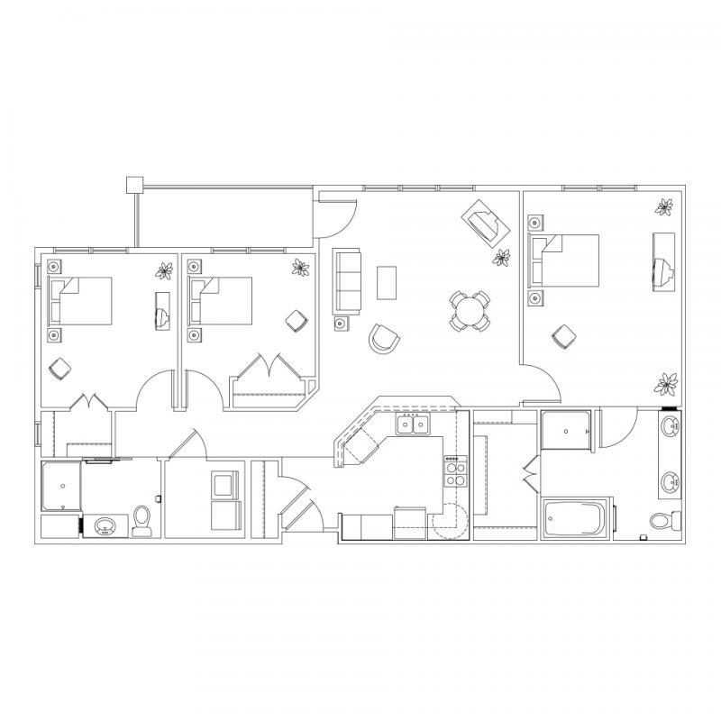Senior living in colorado springs co mackenzie place for Aging in place floor plans