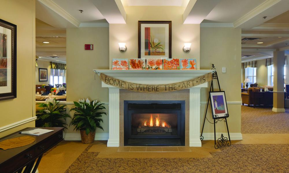 Lobby at The Linden at Danvers