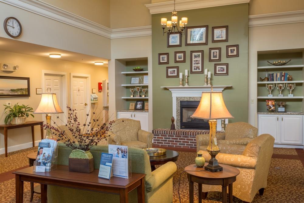 Lobby at The Cottages at Dartmouth Village