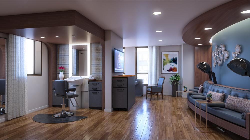 Rendering of the Salon at The Carillon at Belleview Station