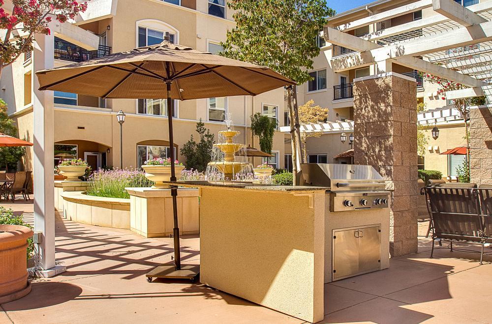 BBQ Area - Heritage Estates Senior Apartments