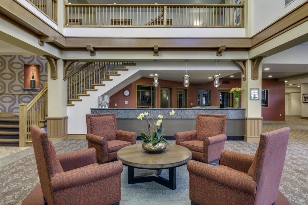 Lobby   Fairwinds Spokane Retirement Community