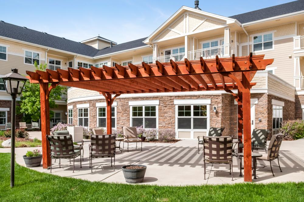 Patio - MacKenzie Place Retirement Community Fort Collins