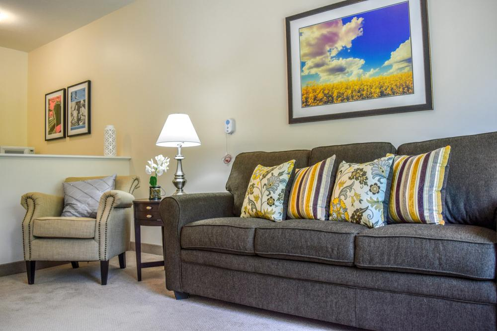 Apartment Living Room at The Landing of Stow