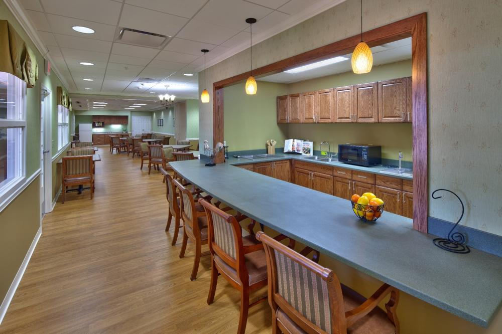 Memory Care Dining Room at The Village at Unity